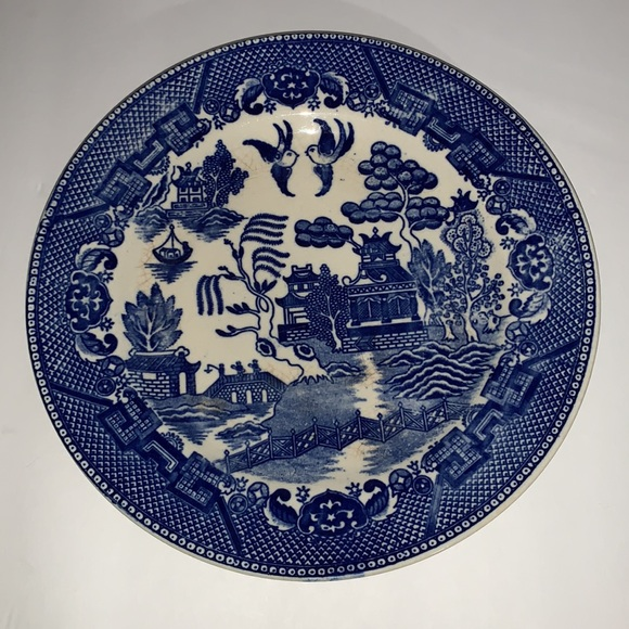 Vintage Blue Willow plate ~ marked Made In Japan